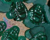 CLEARANCE 34 Emerald Green BUDDHA's for Jewelry VINTAGE