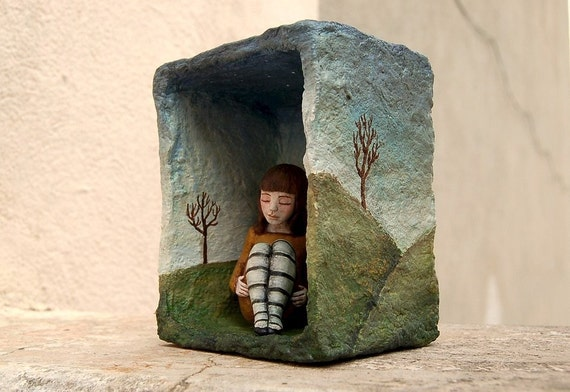 Shadow Box Assemblage Sculpture