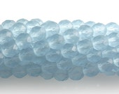 25 8mm Round Fire Polish Faceted Czech Glass Beads - Alexandrite Matte