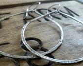 Tattered Tears - Handmade. Oxidized, textured sterling silver Earrings