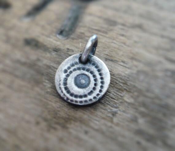 Spore Pendant- Handmade. Oxidized Fine Silver. Design Your Own Series