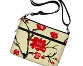 iPad Case Sleeve Bag Cover with adjustable shoulder strap - Asian Cherry Blossom - InStock