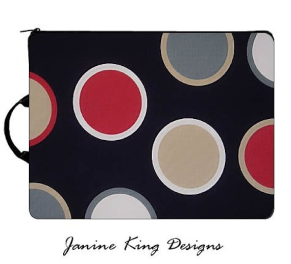 LAPTOP SLEEVE in Twister - custom fit for your model - Janine King Designs
