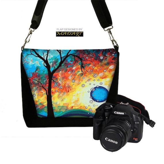 Digital Slr Camera Bag DSLR Camera Bag Purse Womens Camera Bag  - Aqua Burn Madart -  InStock