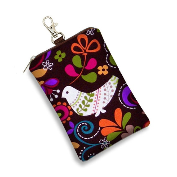 CLEARANCE iPhone Case 5 4 4S 3GS iPhone 4 Case  Cell Phone Case iPod Case -  Birds of Norway fabric brown colorful (RTS)