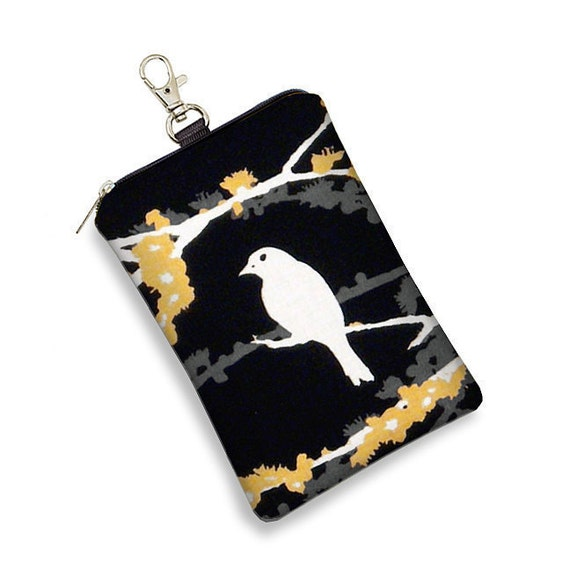 iPhone Case iPhone 4 Case iPod Case Large Cell Phone Case Blackberry Case  - Sparrow bird black white yellow - In Stock