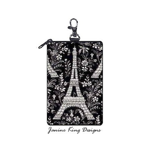 EIFFEL TOWER Cell Phone Case aka Gadget Keeper by JANINE KING (matches laptop bag)