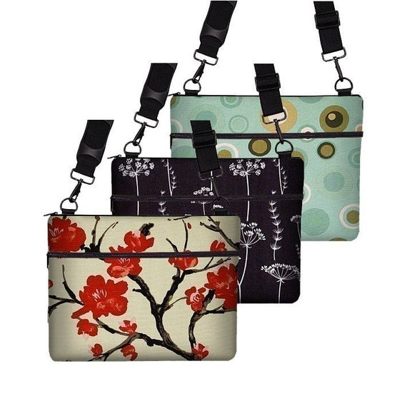 13 inch MACBOOK  Laptop Sleeve\/Bag\/Case with zipper pocket and adjustable strap -- lots of fabrics to choose from