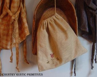 Primitive Spring Ditty Bag Cross Stitch E Pattern PDF