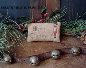 Primitive Merry Christmas Cupboard Keep Cross Stitch E Pattern PDF