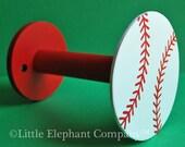 Single Baseball Curtain Holdback