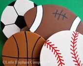 set/4 Sports Quilt Clips - Baseball, Football, Basketball, and Soccer Ball