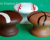 set/3 Sports Nail Covers (aka Drawer Knobs)