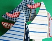 Sail Boat Quilt Clips - Set/3