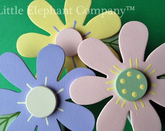Meredith Pastels Daisy Quilt Clips - set of 3