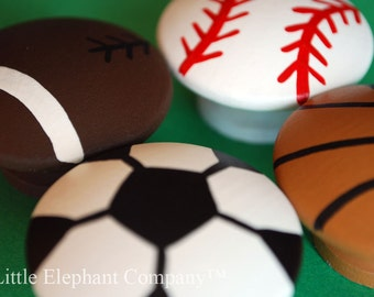 set/4 Sports Nail Covers (aka Drawer Knobs)