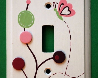 Raspberry Swirl Lightswitch Cover