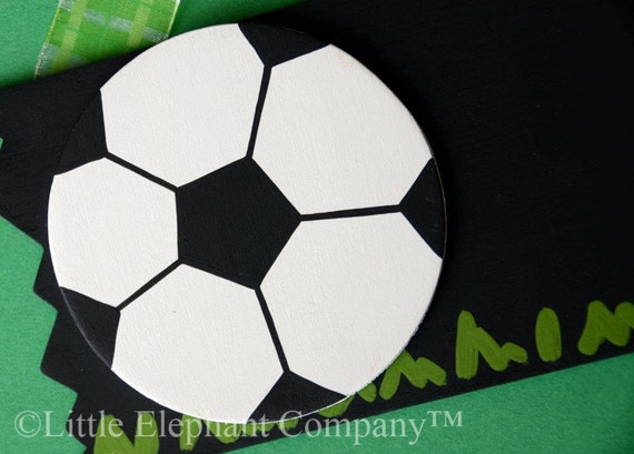 READY TO SHIP Soccer Name Sign - Free Personalization