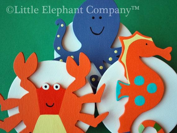 Sea Animals Quilt Clips - Set/3