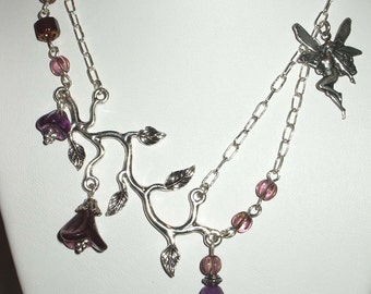 Twilight  Woodland Fae Necklace .Faerie Fantasia Collection.