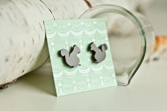 Brown Squirrel Earrings