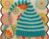 Rockin' Stockin' Infant Cap Crochet Pattern eBook - Immediate Download
