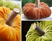 VELVET PUMPKINS  They are all the rage.  Make your own today.  Fabric Pumpkin Sewing and Craft Pattern eBook - Immediate Download