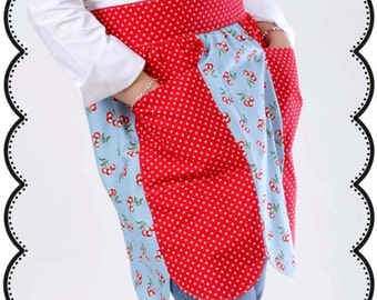 Mommy and Me Scalloped Hostess Apron Sewing Pattern with Instructions eBook