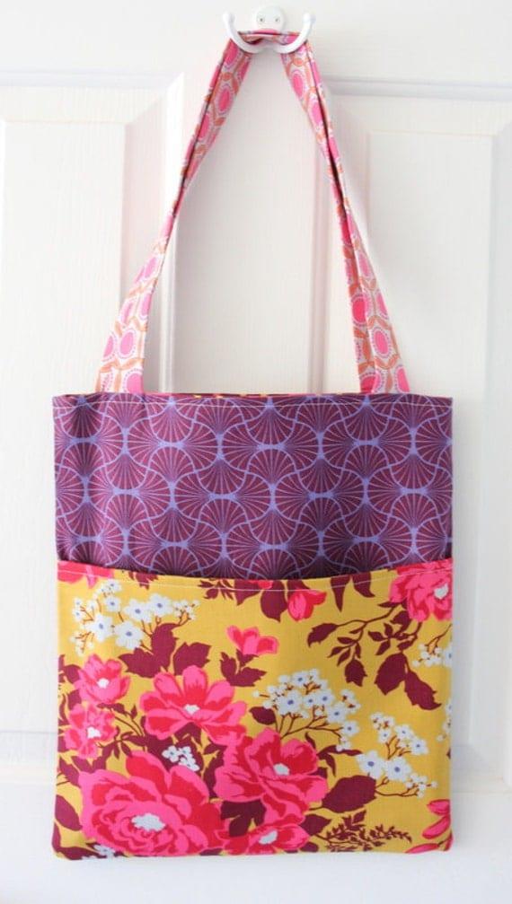 market bag with front pocket