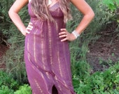 Purple and gold disco style dress