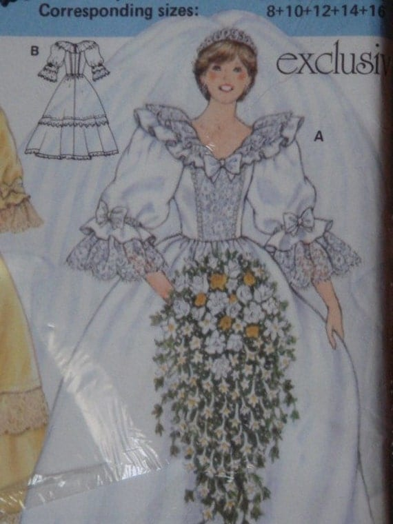Princess diana wedding gown pattern by theragingstitch on etsy
