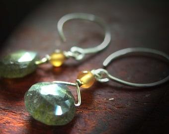 Gemstone Earrings, Labradorite Earrings, Earrings Gemstones, Earrings Handmade