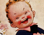 Vintage ORIGINAL 1934 Laughter Is The Best Medicine Post Card Made in Great Britain (B62)