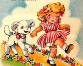 Mary Had A Little Lamb Vintage Digital Download Printable Images (146)