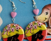 Cute As A Button The Poshest of Poodle Vintage Greetings Card Girls Pierced Earrings (2)
