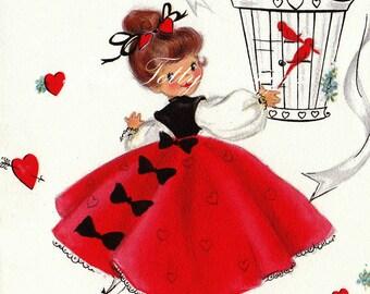 In Love Valentines 1940s Vintage Digital Greetings Card Download Printable Images (03)