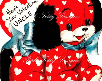 The Cutest Little Doggy Valentine 1940s Vintage Digital Printable Images (62)