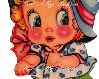 Vintage 1920s Art Deco Greetings Card Happy Birthday Digital Printable Images (150)