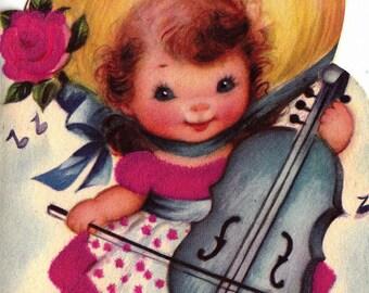 Vintage 1950s Happy Birthday Daughter Greetings Card (B4)