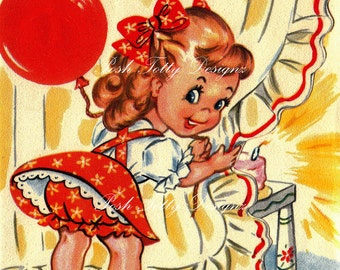 It's Party Time 1940s Vintage Digital Download Image (179)