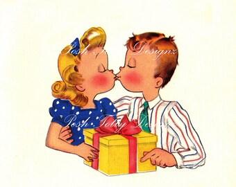 Still In Love 1940s Vintage Greetings Card Digital Download Images (217)