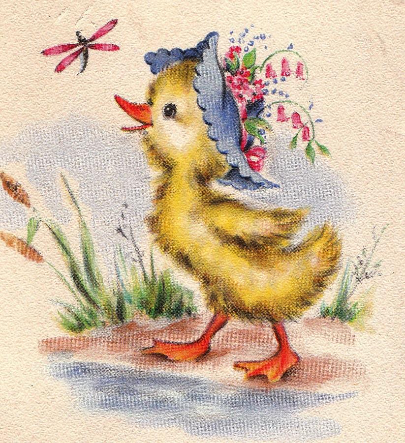Vintage Hallmark UNUSED 1948 For Easter Greetings Card B64