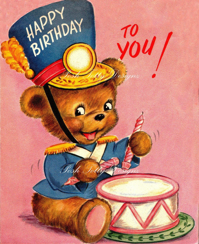 Vintage Wedding Card Unused Greeting Card 1960s 1950s: Happy Birthday To You 1950s Vintage Greetings By