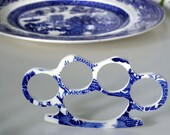 China Knuckles - Blue Willow - In Case of Emergency Break China - Recycled China