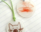 DIY Shrink Plastic Necklace Kit - A Jewelry By Jessica DIY Kit (Includes Necklace Cord and Magnetic Clasp)