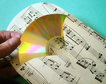 Sample - 1 LOVESONG CD envelope / DVD sleeve upcycled from vintage sheet music