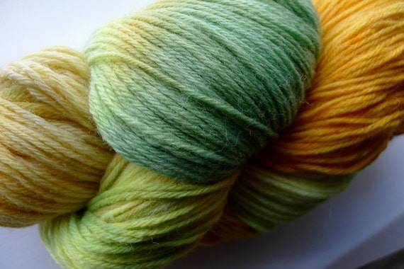 RUSHES (260 yards) Synaesthetic Handdyed Sport weight Wool Yarn Hank