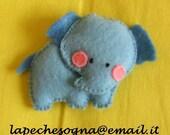 felt pin elephant
