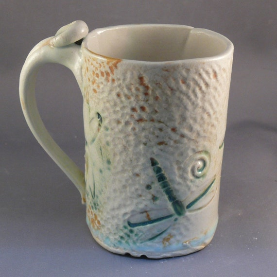 SALE Dragonfly Coffee Cup F - was 26 dollars