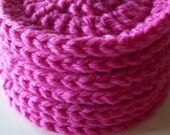 On Etsy Cotton Crochet Face Scrubbies Pink (Set of 7)- Cleaning, Bathroom, Make-up Remover